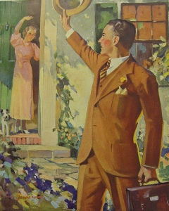 woman waving goodbye
